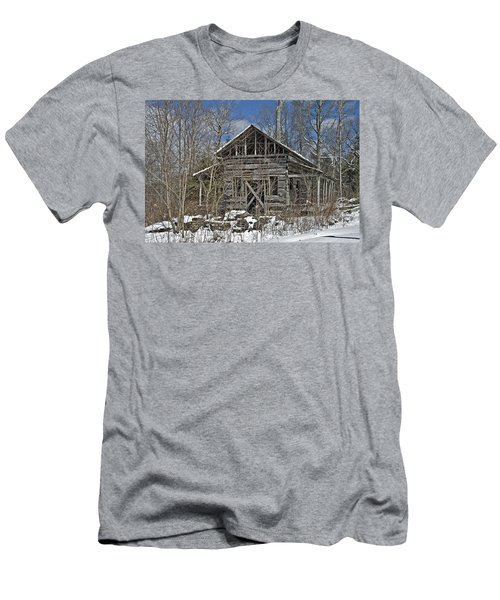 Abandoned House In Snow Men's T-Shirt (Athletic Fit)