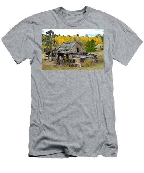 Abandoned Mine In Autumn Men's T-Shirt (Athletic Fit)