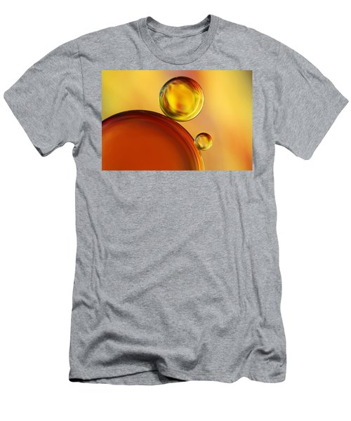 Abstract Oil Drops Men's T-Shirt (Athletic Fit)