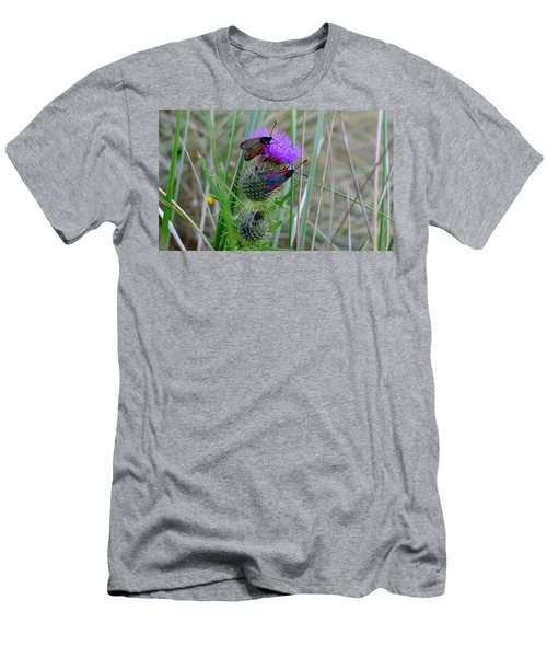 Men's T-Shirt (Slim Fit) featuring the photograph Active by Barbara Walsh