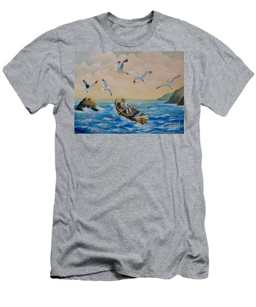 After A Fishing Day Men's T-Shirt (Athletic Fit)