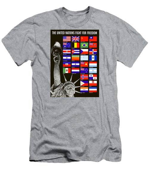 Allied Nations Fight For Freedom Men's T-Shirt (Athletic Fit)