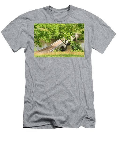Men's T-Shirt (Slim Fit) featuring the photograph Antietam's Burnside Bridge by Cindy Manero