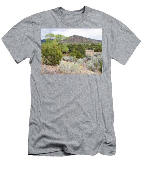 April New Mexico Desert Men's T-Shirt (Athletic Fit)