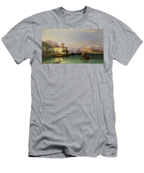 Arona And The Castle Of Angera Lake Maggiore Men's T-Shirt (Athletic Fit)