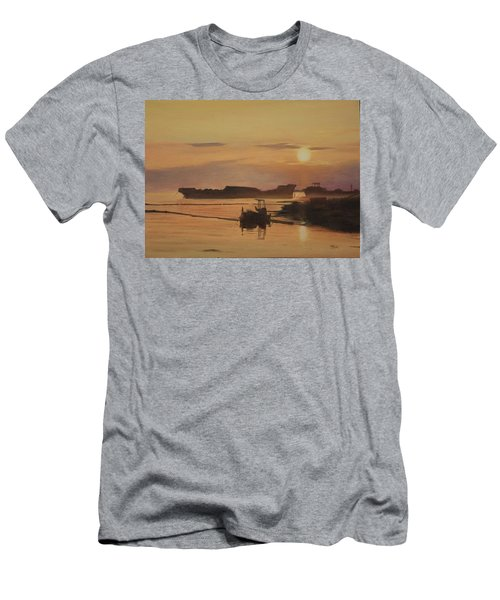 Men's T-Shirt (Athletic Fit) featuring the painting At The End Of It's Day by Tammy Taylor