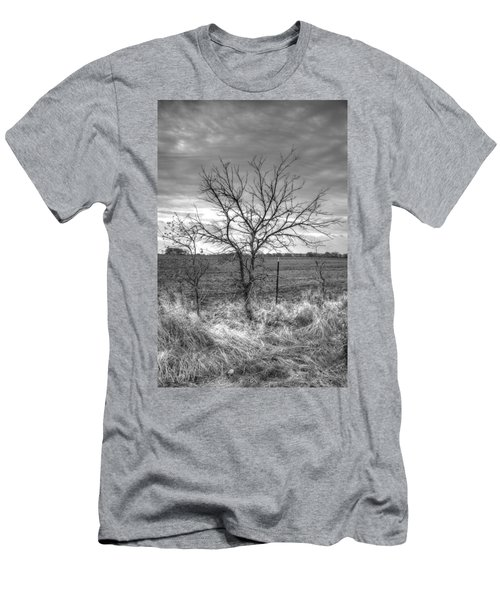 B/w Tree In The Country Men's T-Shirt (Athletic Fit)