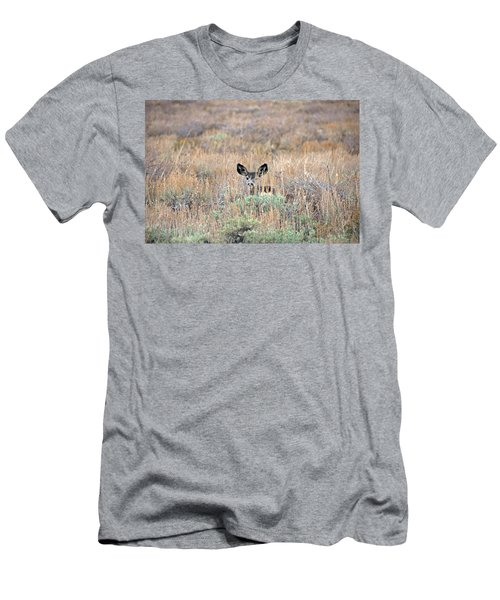 Babe In Hiding Men's T-Shirt (Slim Fit) by Lynn Bauer