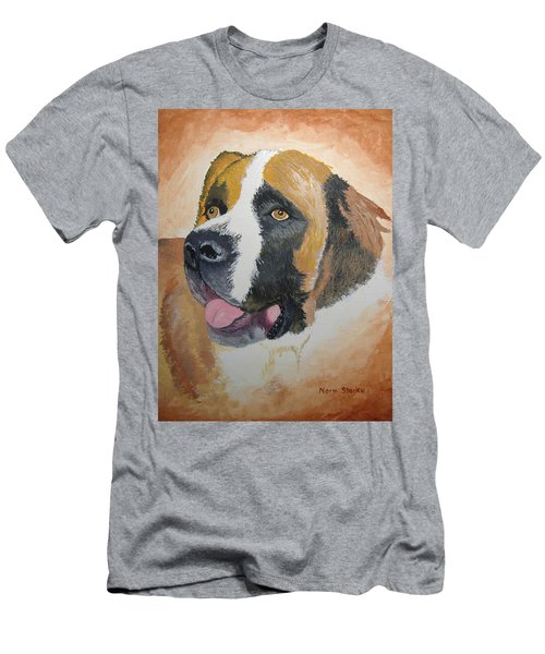 Men's T-Shirt (Slim Fit) featuring the painting Baxter by Norm Starks