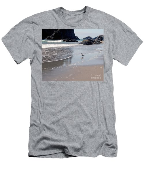 Men's T-Shirt (Slim Fit) featuring the photograph Beachcomber by Sharon Elliott