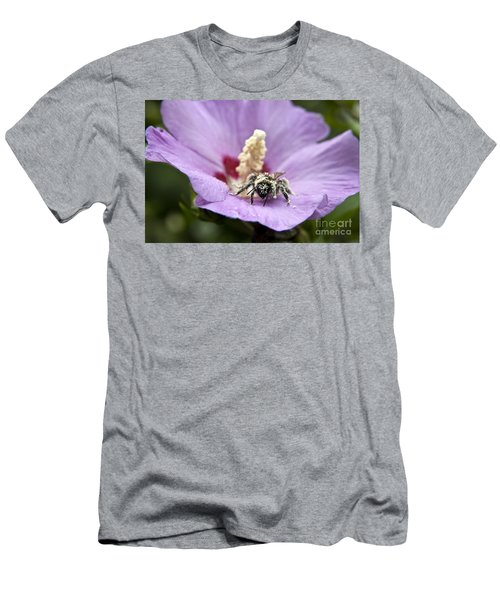 Bee Covered In Pollen  Men's T-Shirt (Slim Fit) by Jeannette Hunt