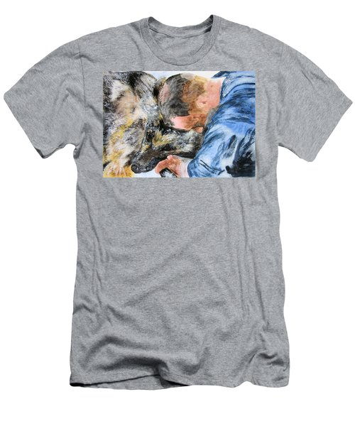 Best Friends-watercolor Study Men's T-Shirt (Athletic Fit)