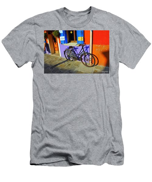 Bicycle Stance Burano Italy Men's T-Shirt (Athletic Fit)