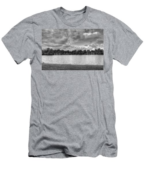 Men's T-Shirt (Slim Fit) featuring the photograph Black And White Autumn Day by Michael Frank Jr