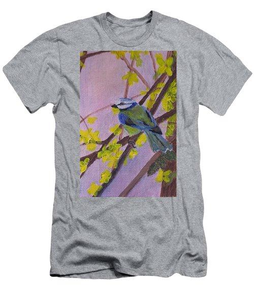 Blue Bird Men's T-Shirt (Slim Fit) by Christy Saunders Church