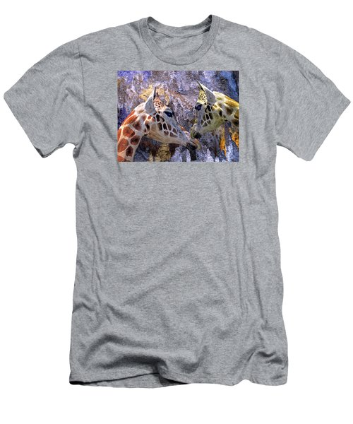 Blue Cave Giraffes Men's T-Shirt (Athletic Fit)