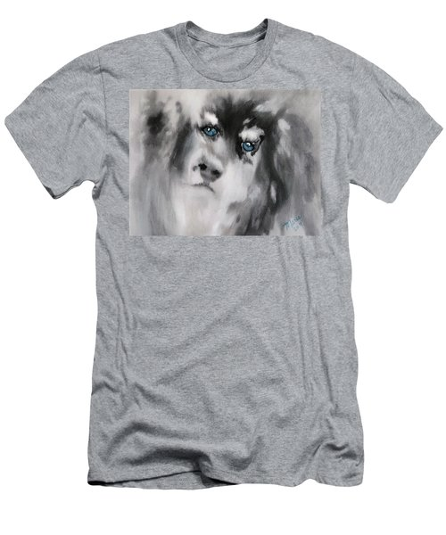 Blue Men's T-Shirt (Athletic Fit)
