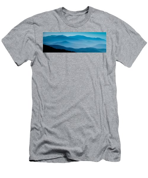 Blue Ridges Panoramic Men's T-Shirt (Athletic Fit)
