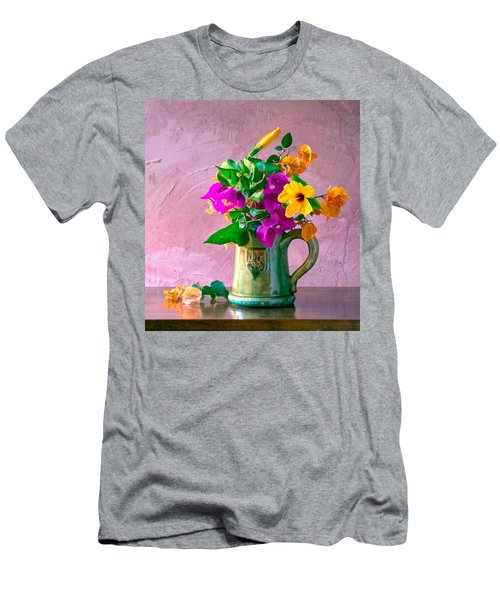 Bougainvilleas In A Green Jar. Valencia. Spain Men's T-Shirt (Athletic Fit)