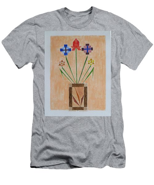 Men's T-Shirt (Slim Fit) featuring the painting Bouquet by Sonali Gangane