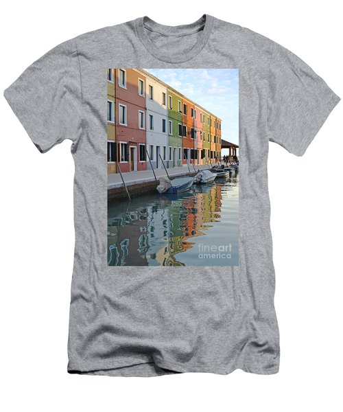 Men's T-Shirt (Slim Fit) featuring the photograph Burano Canal by Rebecca Margraf