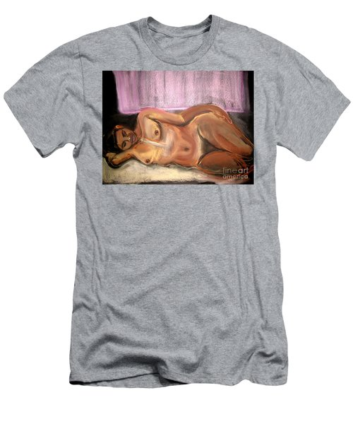 Men's T-Shirt (Athletic Fit) featuring the drawing Burning Dream by Gabrielle Wilson-Sealy