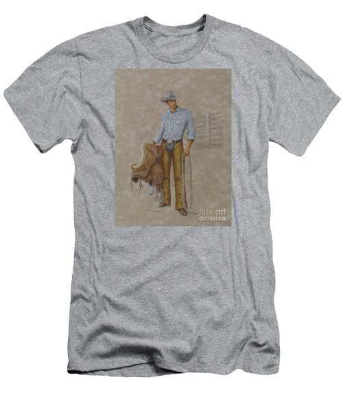 Busted Bronc Rider Men's T-Shirt (Athletic Fit)