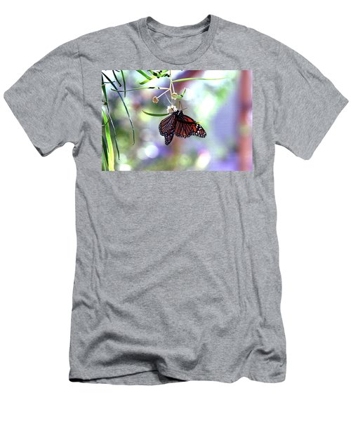 Men's T-Shirt (Slim Fit) featuring the photograph Butterfly Meet-up by Tam Ryan