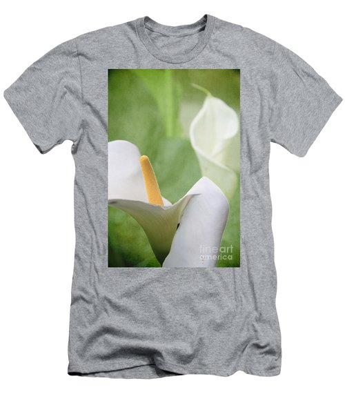 Calla Lilies Men's T-Shirt (Slim Fit) by Alyce Taylor
