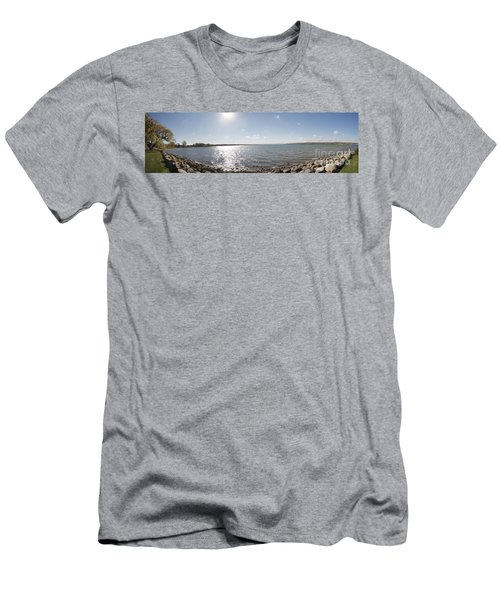 Men's T-Shirt (Slim Fit) featuring the photograph Canandaigua Lake Panorama by William Norton
