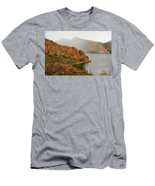 Men's T-Shirt (Slim Fit) featuring the photograph Canyon Lake by Tam Ryan