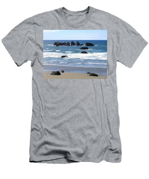 Men's T-Shirt (Athletic Fit) featuring the photograph Cat And Kittens Rocks by Will Borden