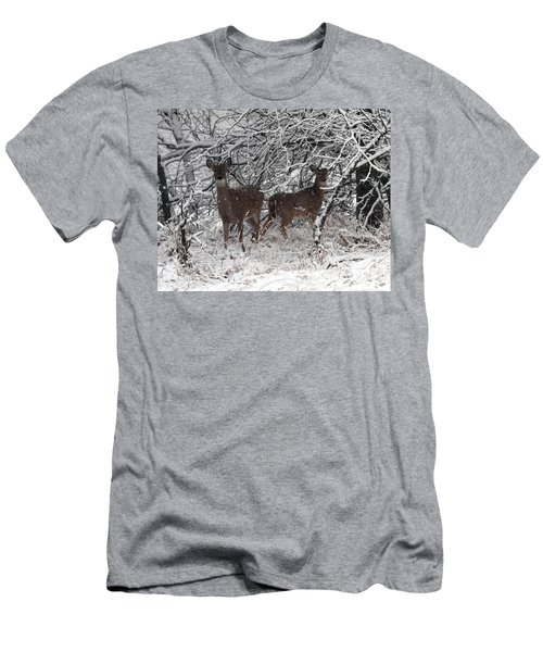 Men's T-Shirt (Slim Fit) featuring the photograph Caught In The Snow Storm by Elizabeth Winter