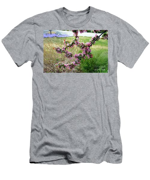 Men's T-Shirt (Athletic Fit) featuring the photograph Circle Of Blossoms by Dorrene BrownButterfield