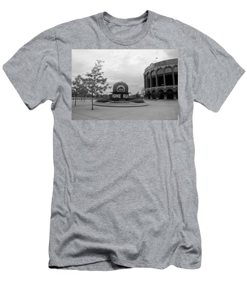 Citi Field In Black And White Men's T-Shirt (Athletic Fit)