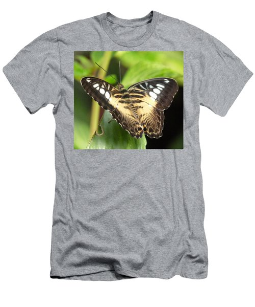 Men's T-Shirt (Slim Fit) featuring the photograph Clipper Butterfly by Lynn Bolt
