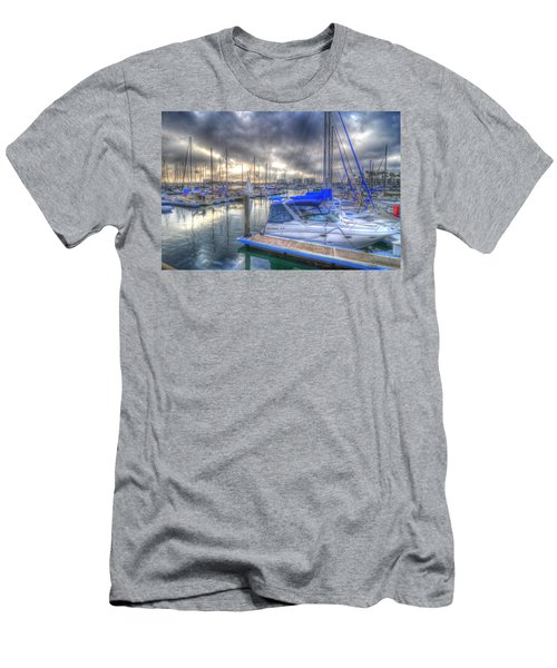 Clouds Over Marina Men's T-Shirt (Athletic Fit)