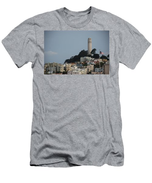 Men's T-Shirt (Slim Fit) featuring the photograph Coit Tower by Eric Tressler