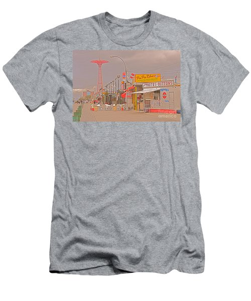 Coney Island Boardwalk Men's T-Shirt (Athletic Fit)