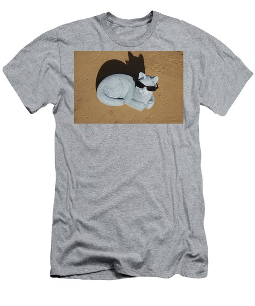 Men's T-Shirt (Slim Fit) featuring the photograph Cool Cat by Aimee L Maher Photography and Art Visit ALMGallerydotcom
