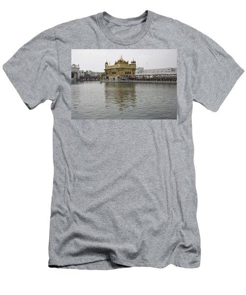 Darbar Sahib And Sarovar Inside The Golden Temple Men's T-Shirt (Slim Fit) by Ashish Agarwal