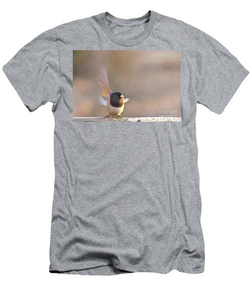 Dark-eyed Junco Taking Flight Men's T-Shirt (Slim Fit) by Sean Griffin