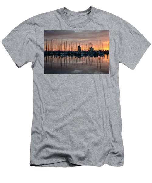 Dawn At The Marina Men's T-Shirt (Athletic Fit)