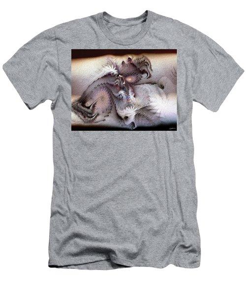 Men's T-Shirt (Slim Fit) featuring the digital art Derailing Destiny by Casey Kotas
