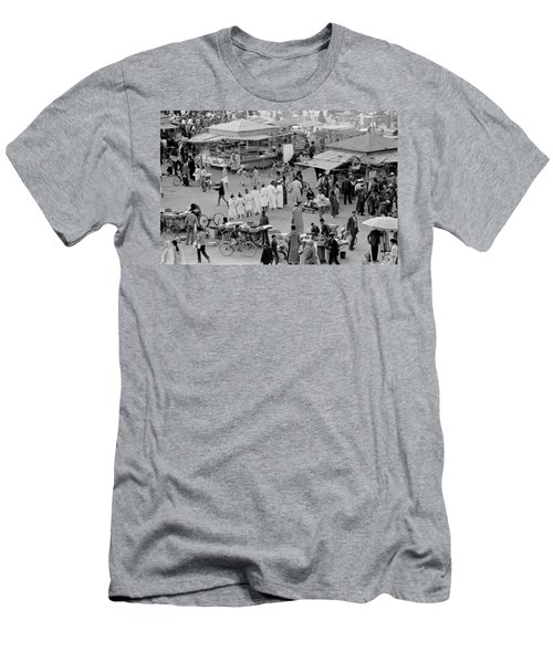 Men's T-Shirt (Slim Fit) featuring the photograph Djemaa El Fna Marrakech Morocco by Tom Wurl