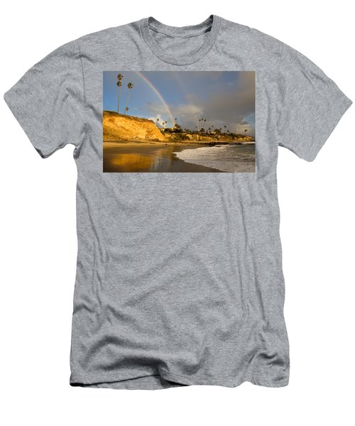 Double Raibow Over Laguna Beach Men's T-Shirt (Athletic Fit)