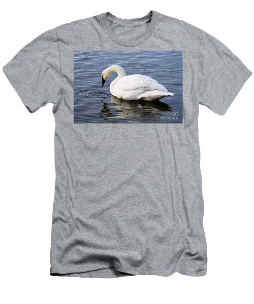 Dribbling Swan Men's T-Shirt (Athletic Fit)