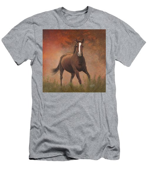 Men's T-Shirt (Athletic Fit) featuring the painting Early Morning Light by Tammy Taylor