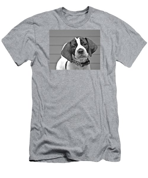 English Pointer Puppy Black And White Men's T-Shirt (Athletic Fit)