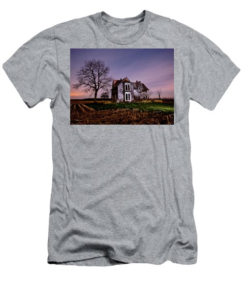 Farm House At Night Men's T-Shirt (Athletic Fit)